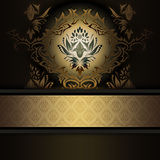Vintage background with decorative patterns. Royalty Free Stock Photo