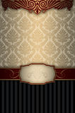 Vintage background with decorative patterns and elegant frame. Royalty Free Stock Photo