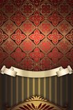 Vintage background with decorative patterns. Stock Image