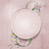 Vintage background with delicate flowers. greeting card Royalty Free Stock Photo
