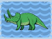Vintage background with dinosaur Royalty Free Stock Image
