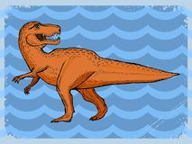 Vintage background with dinosaur Royalty Free Stock Photo