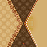 Vintage background with divider and beautiful arabesque Royalty Free Stock Image