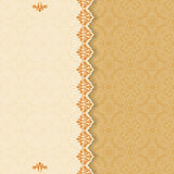 Vintage background with divider and beautiful arabesque. Useful for greeting and luxury postcard; ornamental pattern template in design, decorative page cover vector illustration