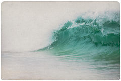 Vintage Background of dreamy wave Stock Photography