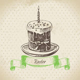Vintage background with Easter cake Royalty Free Stock Photography