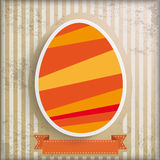 Vintage Background Easter Egg Stripes Royalty Free Stock Photo