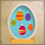 Vintage Background Egg Hole Royalty Free Stock Image