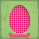 Vintage Background Egg in Hole Checked Towel Stock Images