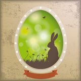 Vintage Background Egg Hole Rabbit Royalty Free Stock Photography
