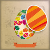Vintage Background Eggs in Hole. Vintage background design with brown colors Stock Photography