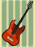 Vintage background with electric guitar Stock Images