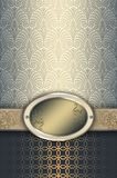 Vintage background with elegant frame. royalty free stock image