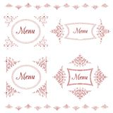 Vintage background for menu with tracery elements Stock Photo