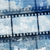 Vintage background. With film flame Stock Photography