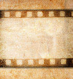 Vintage background. With film flame Stock Images
