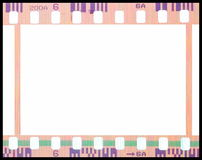 Vintage background with film flame. Blank old grunge film strip frame background. Vector format Royalty Free Stock Photography