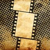 Vintage background with film frame. Abstract grunge background with scratches Stock Photography