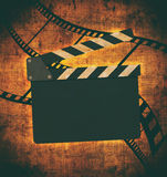 Vintage background with film frame Stock Photos