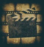 Vintage background with film frame. Vintage background with film flame and scratches Royalty Free Stock Photography
