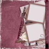 Vintage background with film strip and frame Stock Images