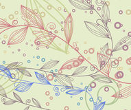 Vintage background with floral elements Stock Images
