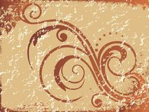 Vintage background with floral elements Royalty Free Stock Images