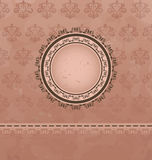 Vintage background with floral medallion Stock Image