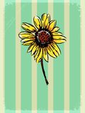 Vintage background with floral motive Stock Photography