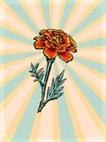 Vintage background with floral motive Stock Images