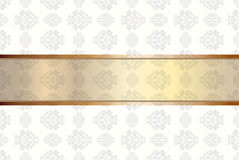 Vintage background with floral ornaments Royalty Free Stock Image