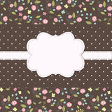 Vintage background with floral pattern Stock Photo