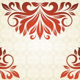Vintage background. Vintage background with floral pattern for invitations Royalty Free Stock Image