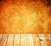 Vintage background with floral pattern Royalty Free Stock Photo