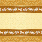 Vintage background with floral seamless pattern. Stock Photo