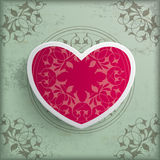 Vintage Background Floriad Heart Stock Photography