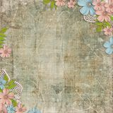 Vintage background with   flower composition Stock Photography