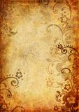 Vintage background with flower and leaf Royalty Free Stock Photos