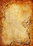 Vintage background with flower and leaf Royalty Free Stock Images