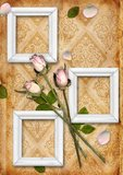 Vintage background with flower ornament Stock Photo