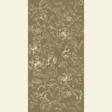 Vintage background with flowers. Vintage background with decorative floral frame Stock Photos