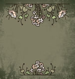Vintage background with flowers Stock Photography