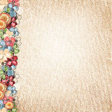 Vintage background with flowers border Stock Photo