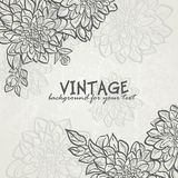 Vintage background with flowers dahlias for your text-EPS10 Royalty Free Stock Photo