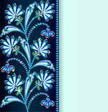 Vintage background with flowers made of precious stones and stri Stock Photo