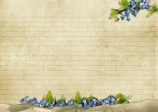 Vintage background with blue flowers Stock Photography