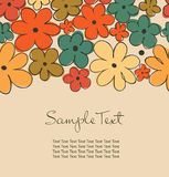 Vintage background with flowers and place for text Royalty Free Stock Photos