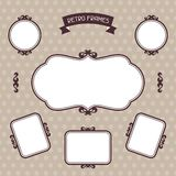 Vintage background foto frames with decorative Stock Image
