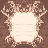 Vintage background  frame Stock Photography