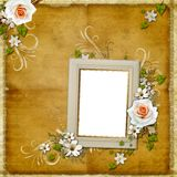 Vintage background with  frame Stock Photography